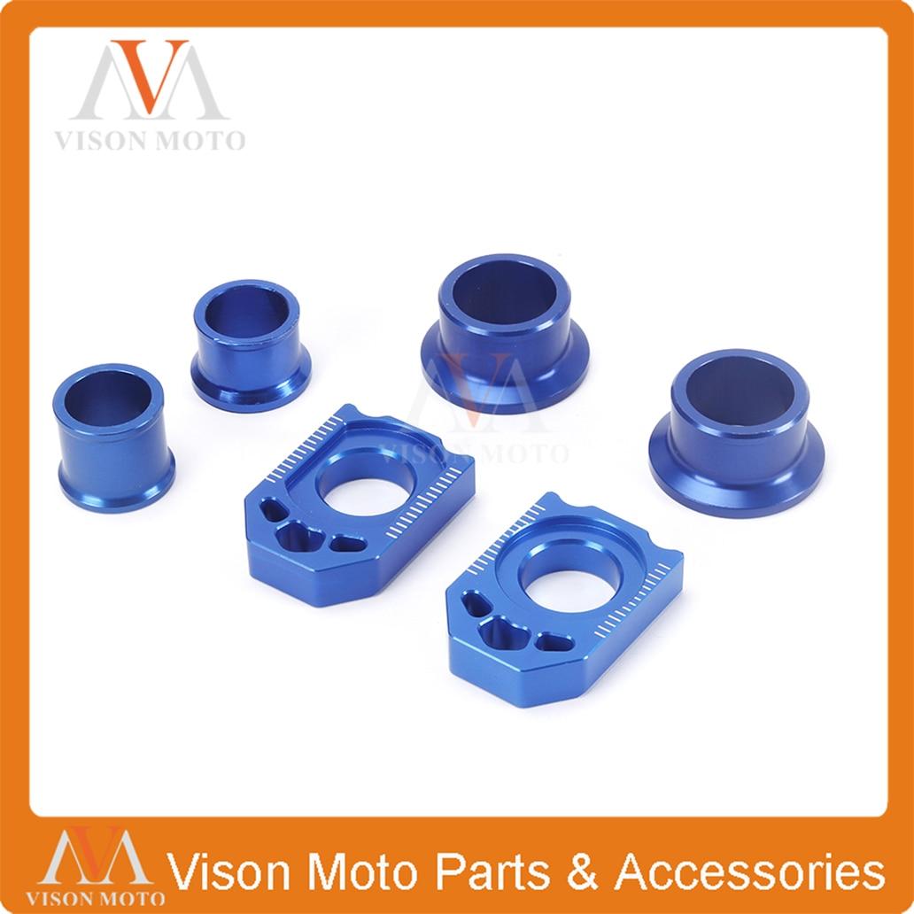 Entretoises de moyeu de roue avant arrière ajusteur de chaîne bloc d'essieu pour YAMAHA YZF250 YZ250F 2012 2013 YZF450 YZ450F 2010 2011 12 13