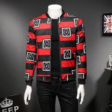 278b8b052682c Black Red Stripe Mens Bomber Jackets 2018 Spring Autumn Club Outfit Men  Casaca Hombre Party Prom Designer Jacket Men Plus 5xl