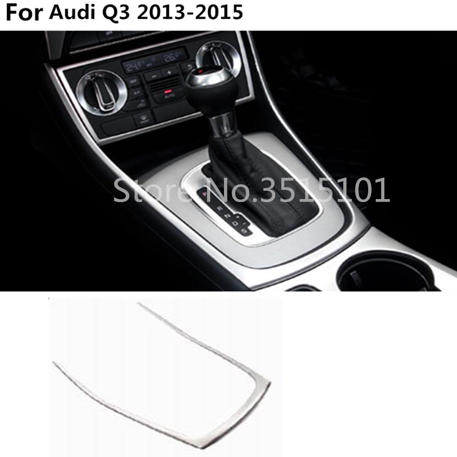 Automobiles & Motorcycles For Audi Q3 2013 2014 2015 Car Cover Stick Abs Chrome Interior Front Shift Stand Stall Paddles Cup Lamp Trim Frame Moulding 1pcs Chromium Styling