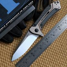Ben ZT0801CF ball bearing Folding Knife D2 Titanium Carbon Fiber Camping Hunting Survival Kitchen Knives Outdoor EDC Tool