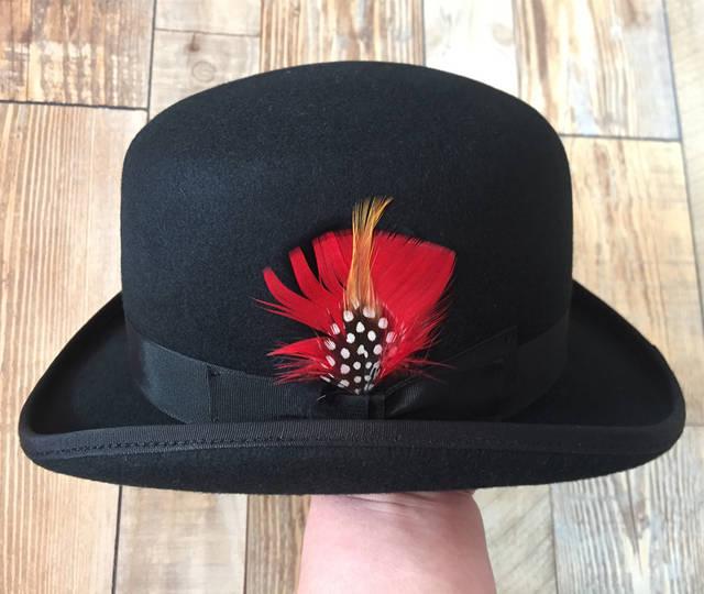 057aa9339b89a placeholder Derby Hat  Men s Wool Vintage Traditional Bowler Felt Hat    Cabaret Chaplin Sherlock Watson Hat