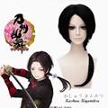 ECVTOP Game Cosplay Wig Touken Ranbu Online Kashuu Kiyomitsu Costume Short cool Black Pigtail Wig