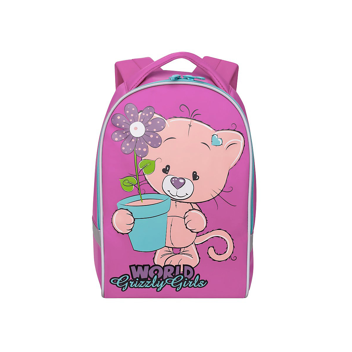 GRIZZLY School Bags 11238415 schoolbag backpack orthopedic bag for boy and girl animals large capacity pu leather unisex backpack fashion school bags for teenager women men travel backpacks high quality shoulders bag