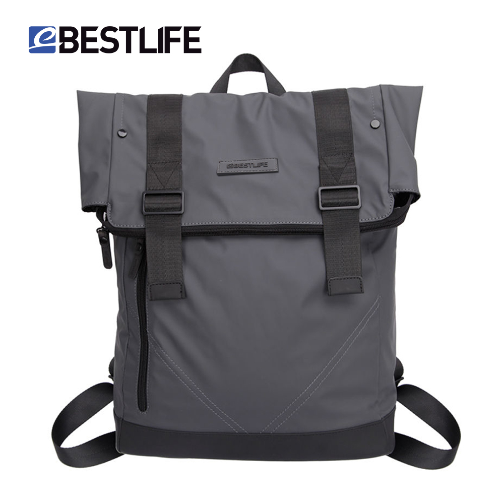 BESTLIFE Male PU Leather Backpack Casual Soft Waterproof Flip Cover Travel Mochila Escolar Brand Men Laptop Sac A Dos Backpacks