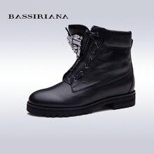 BASSIRIANA Neue Stiefeletten Zip fashion herbst winter kurze schuhe frauen stiefel mode metall schuhe stiefel verkauf größe 35-40