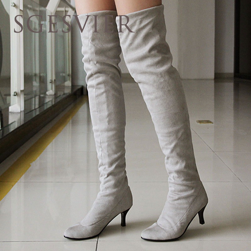 Online Get Cheap Over Knee High Heel Boots Sexy -Aliexpress.com ...