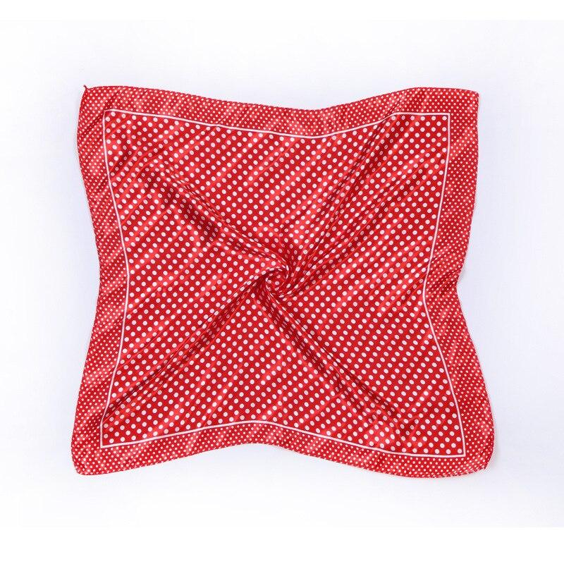 2017 New Women Scarves Satin Silk Scarf Polka Dot Small Square Scarves Elegant Handkerchief Hair Accessories decoration NX036