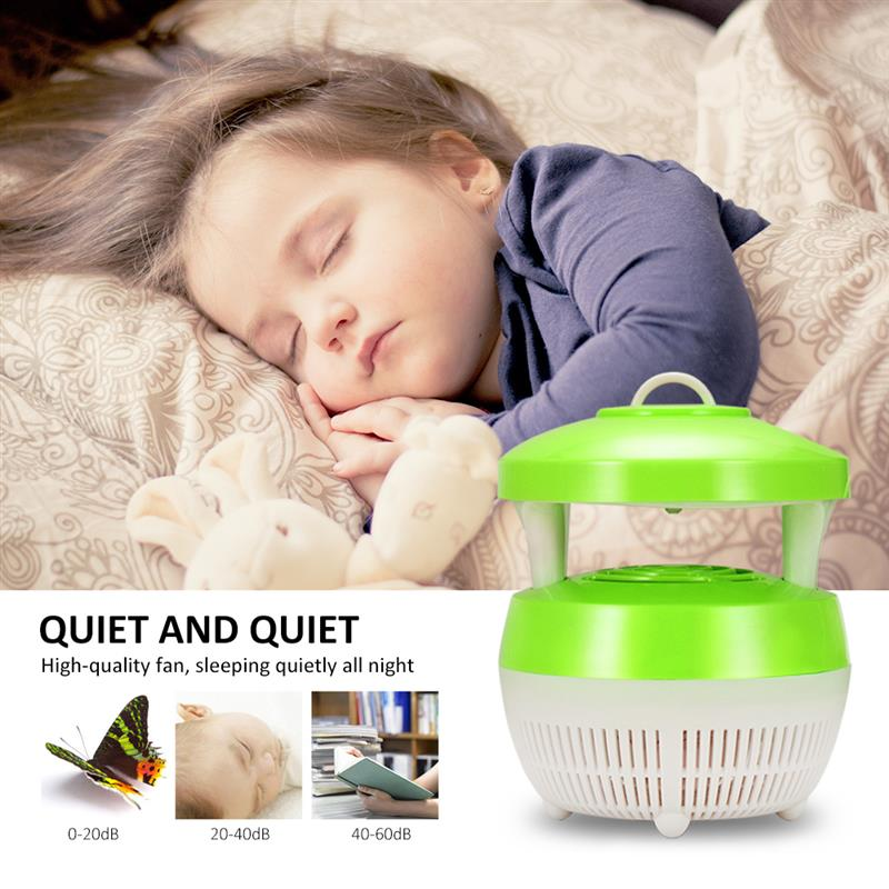 ABEDOE USB Charge Mosquito Killer Light Smart Optically Controlled Safety Insect Killing Lamp For Living Room Bedroom Kitchen