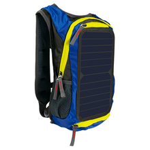Xinpuguang 6W 6V Blue Backpack Solar Cell Battery USB Charger Power for Mobile Phone Laptop Outdoor Camping Travel Charging