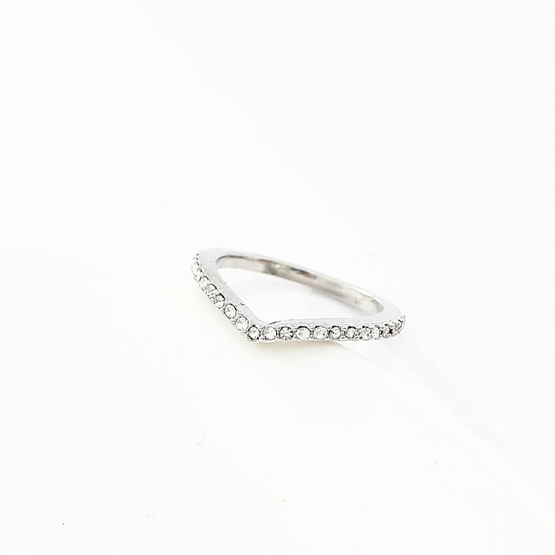 c884cd142 TOGORY Entwined Authentic Silver Clear Zircon Original Fine Ring ...