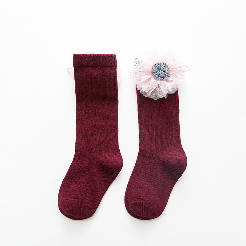 LAWADKA Cotton Kids Socks Princess Long Socks Girl Children's Knee High Socks Girl Socks Children Flowers Swans Style 1-8 Years 2