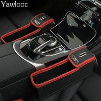 Car Seat Crevice Storage Box Grain Organizer Gap Slit Filler Holder Wallet Phone Coins Cigarette With Slit Pocket Accessories