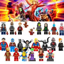Super Heroes lEGOED Avengers Infinity Guerra Iron Man Thanos Thor Black Panther Falcon Gamora Hulk Building Blocks giocattolo WY30(China)