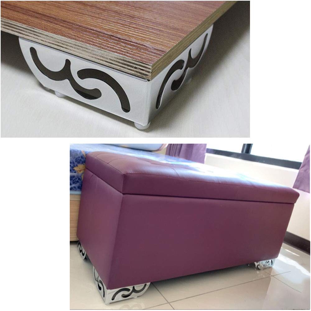 Image 2 - 4pcs Heavy Load bearing Furniture Legs Openwork Pattern Metal Cabinet feet Chrome Plated Triangle Sofa TV Cabinet legs-in Furniture Legs from Furniture