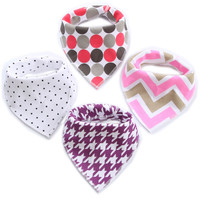 New Baby Girl Bibs Infant Saliva Cloths Baby Burp Cloths Kids Triangle Scarf For Boys Cotton