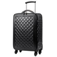 """16 """"20"""" 24 """"дюймов Кожа PU поездка чемоданы и дорожные чемоданы чемоданы чемоданы чемоданы чемодан koffer носить багаж"""