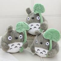 Wholesale 20 Pcs A Lot 20 Cm Cartoon Movie Soft Totoro Plush Toy Soft Stuffed Lotus Leaf Totoro Toy For Fans