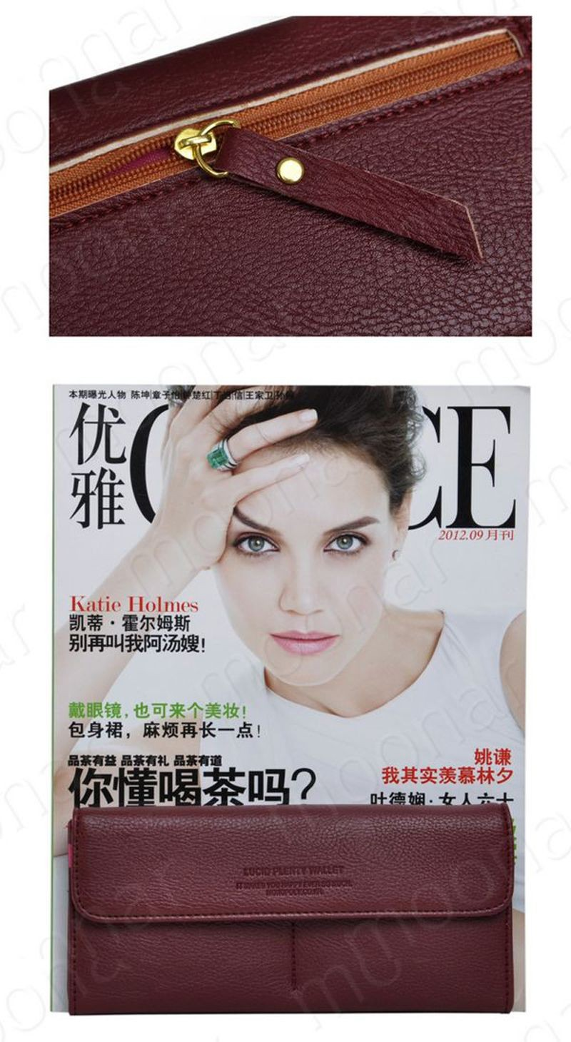 B489 women leather wallet purse (8)
