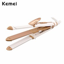 Cheapest prices Ceramic Hair Curler Styling Tool 110-240V   2017 Professional 3 in 1 Hair Straightener Curling Iron Wand Corn Plate Curl 40W