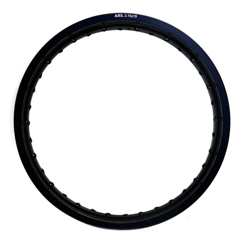 6061 авиационного алюминия 2.15x19 32/36 говорил (серебро) 32/36 отверстия (черный) мотоцикл Диски колесо Круг Отверстие 215x19 2.15 19