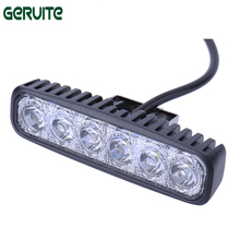 2PC LED 12V 18W LED Car Light Daytime Running Light Work Light Bar 6LED Fog Lamp Waterproof White Light Worklight Floodlight