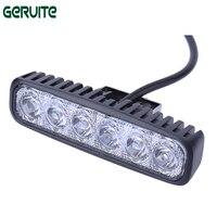 2PC LED 12V 18W 6000K Car Led Daytime Driving Running Light 6LED DRL Fog Lamp For