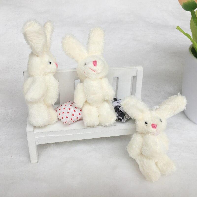 100 sztuk/partia Kawaii pluszowe króliczki kwiat królik miękkie wypchane zabawki dla zwierząt mały wisiorek przez telefon torby prezenty na ślub GMR077 w Pluszowe zwierzęta od Zabawki i hobby na  Grupa 2