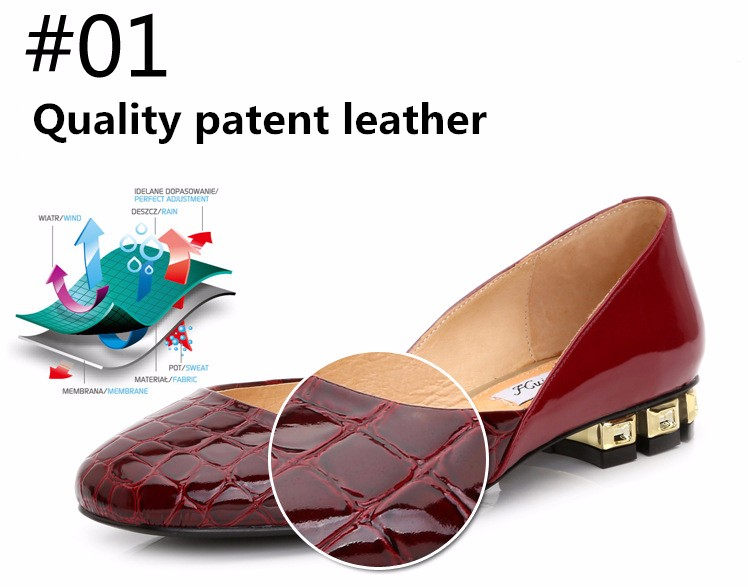 Flats Patent Leather Shoes 2016 New Arrival Casual Women Flat Shoes Summer D\'orsay Flats Plus Size 34-43 Ladies Shoes PX79 (8)