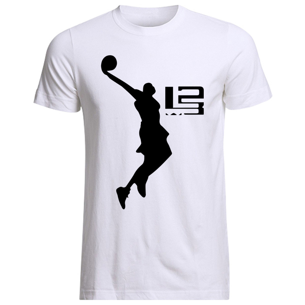 Dunk A Lovers Commemorative Man T Shirt LeBron James T Shirts Men Short Sleeve Cotton Mens Tee ...