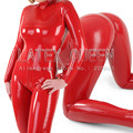 Latex Catsuit Suit W/ Socks Costume Unique