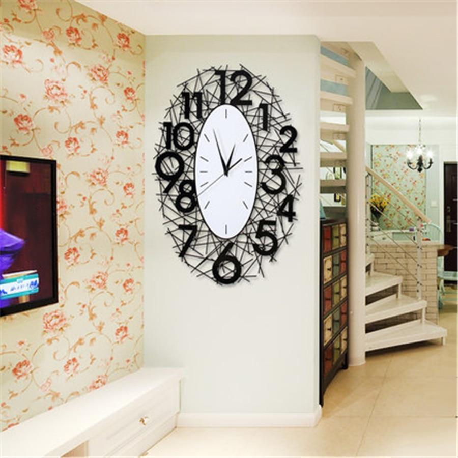 Big Vintage 3D Wall Clock Modern Design Digital Wall Watch Home Decor for Living Room klokken wandklokken Large Clock Wall