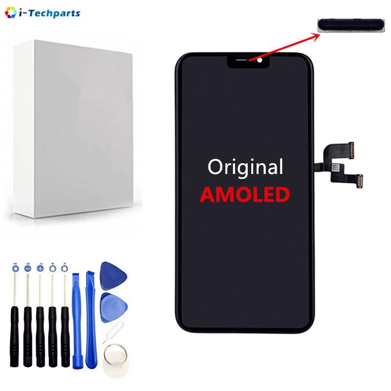 Origine AMOLED pour iPhone X Écran LCD et Tactile Digitizer Lentille Écran Assemblée Complet Remplacement Réparation Partie