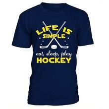 Cool Hockey new short ice Hockey Shirt s T Shirt cheap high quality Men's youth boys cotton Dress Casual Clothing