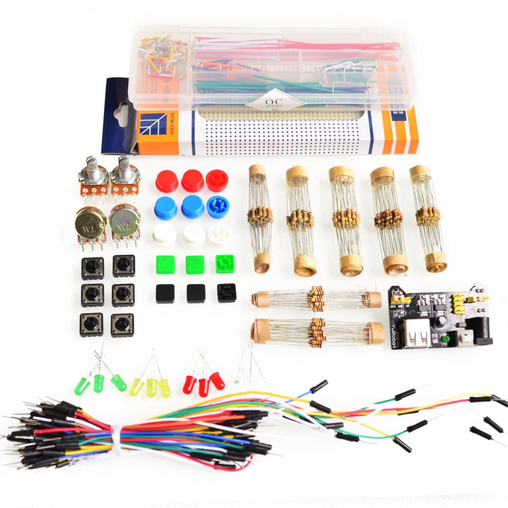 Electronic Components & Supplies Confident 1lot Generic Parts Package Handy Portable Resistor Kit For Arduino Starter Kit Uno R3 Led Potentiometer Tact Switch Pin Header High Safety