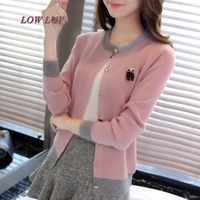 2017 Spring New Women S Short Sweater Outside The Korean Version Of The Round Neck Knitted