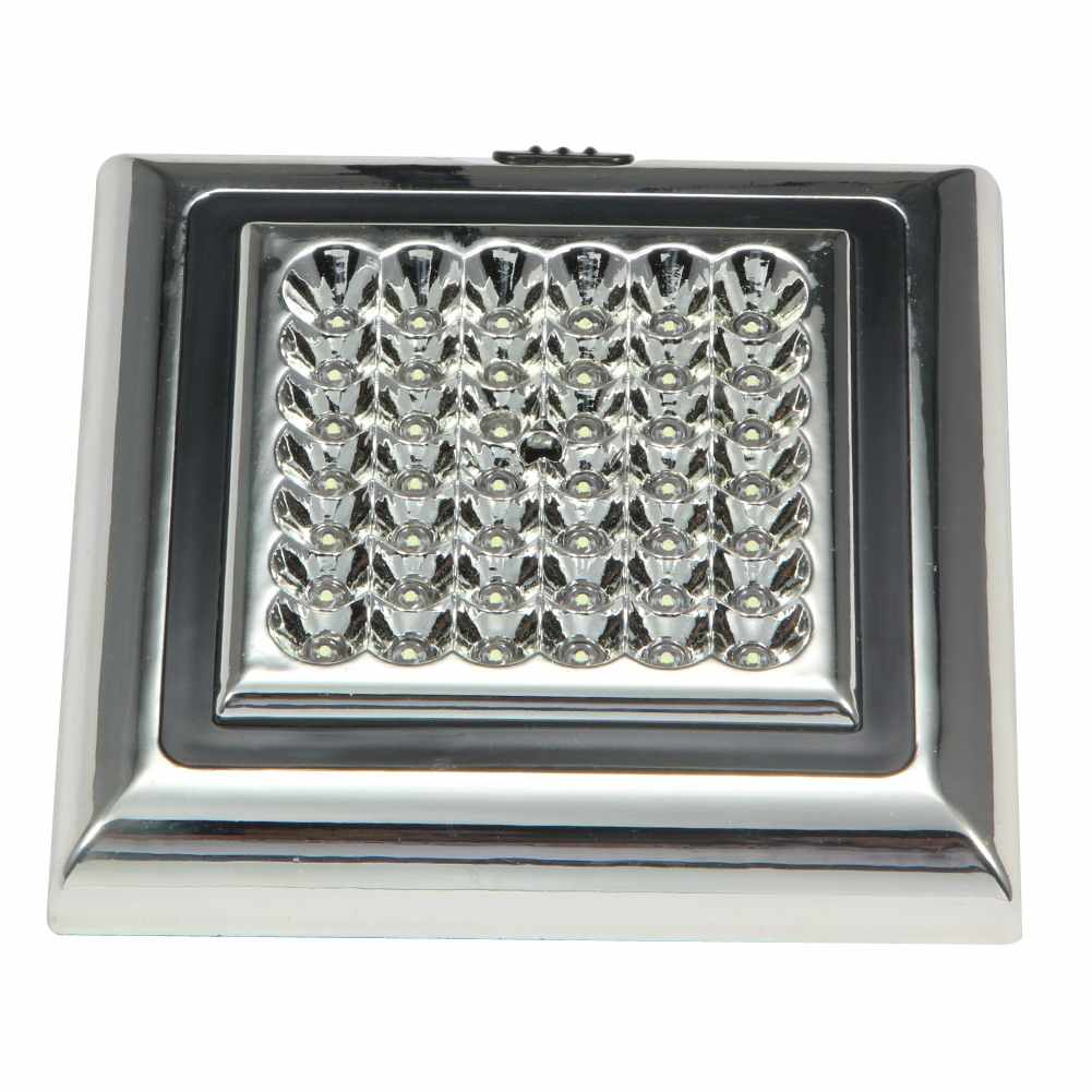 DC 12V 42 LED White Car Vehicle Indoor Roof Ceiling Lamp Interior Dome Light 13.5 x 13.5 x 2.3cm