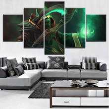 Painting Canvas Wall Art Printed Game Poster HD Print Decorative Picture Home Living Room DOTA 2 5 Piece