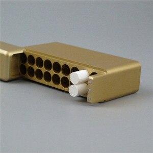 Image 2 - Black Gold Silver 18 Holes Aluminum Storeage Box For IQOS 18PCS Cigarette Holder for IQOS Cigarette Cartridge Case