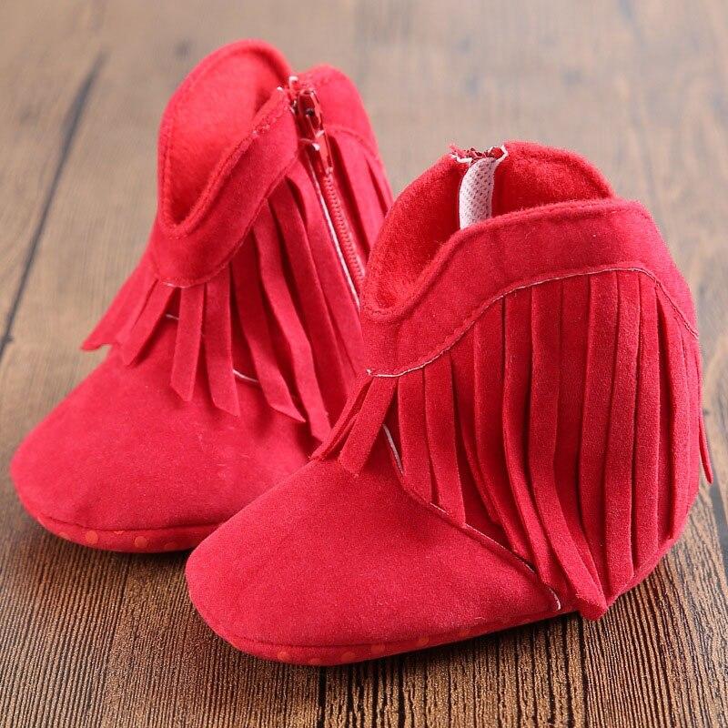 Baby Moccasins Footwear Cotton Shoes Newborn Girls Kids fringe cuir Toddler Fashion scarpe neonata Anti-slip booties Soft Soled