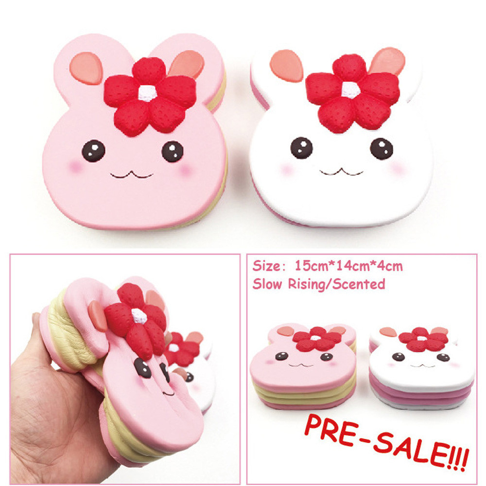 Squishy Cute Soft Rabbit Wipes Antistress Cake Decompression Sticky Eliminate Stress Squishies Fun Squeeze Pets Friet Kit Toys