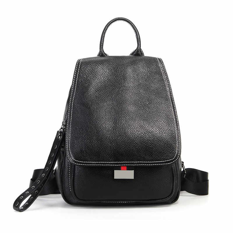 Nesitu/высокое качество, модный повседневный черный, красный, коричневый, зеленый, из натуральной кожи, женский рюкзак из натуральной кожи, женские дорожные сумки для девочек M021