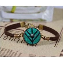 Браслет викингов щит Лагерта кожаный браслет цепочка для мужчин