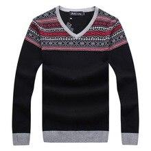RICHARDROGER  2017 Autumn And Winter New Men's Long-sleeved Sweater Slim V-neck 053