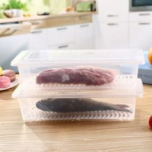 Refrigerator Food Storage Box Fish Meat Fresh Keeping Transparent Fruit Vegetable Organizer Plastic Container Case 8 DC1