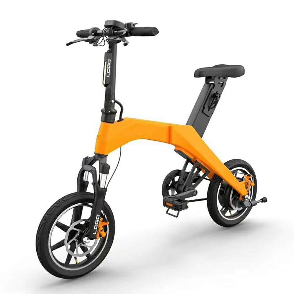 2 Rad Einfach Falten Elektro-bike Mini E-bike Faltbare Fahrrad Lithium-batterie äSthetisches Aussehen Roller