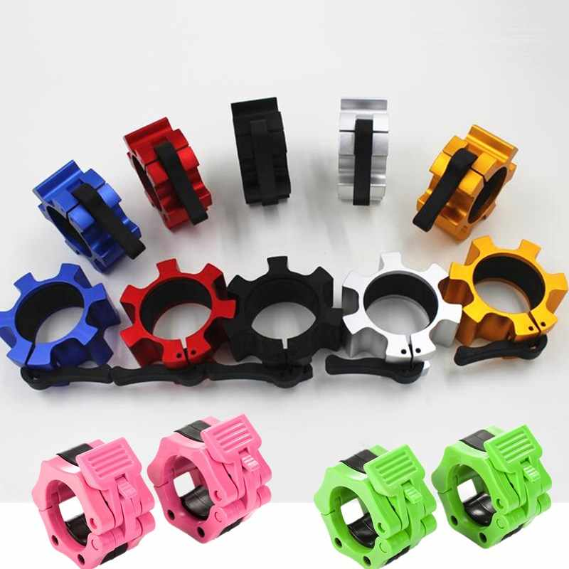1-2/'/' Olympic Spinlock Collars 2pcs Barbell Dumbell Clips Clamp Weight Bar Locks