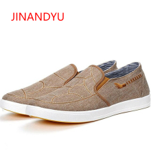 Autumn Trend New Men Casual Canvas Shoes Mens Breathable Flats Slip on Lazy Fashion Driving Loafers