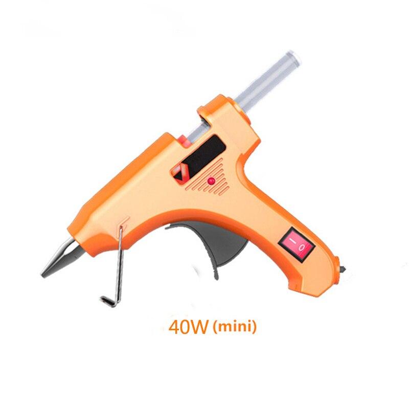 40 w Hot Melt Pistola di Colla con 5 pz 7mm * 160mm Colla Stick Industriale Mini Pistole Termo elettrico di Calore Strumento di Temperatura