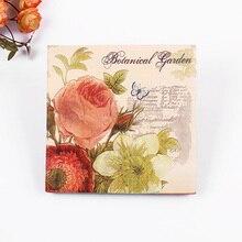 20 шт, салфетки для свадебных салфеток с цветочным рисунком розы,, натуральная древесина, вечерние салфетки для украшения