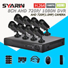 TEATE Safety HD AHD 8 Channel 1MP CCTV System 8CH Full 1080N DVR With 1800TVL 720P